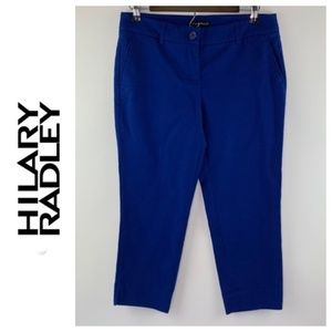 Hilary Radley Women Pants Capri Blue Size 6